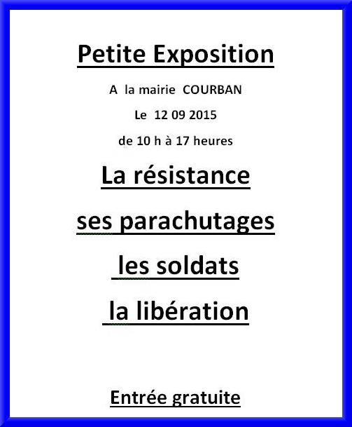 Une exposition sur la Résistance, les parachutages
