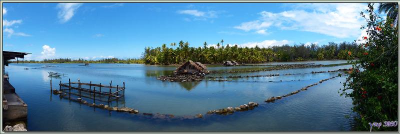 Les parcs (pièges) à poissons de Maeva - Huahiné - Polynésie française
