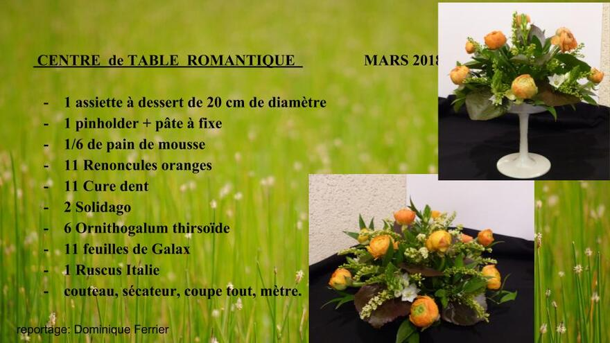 Centre de table romantique