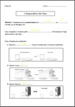 Le cycle de l'eau : séances préparatoires