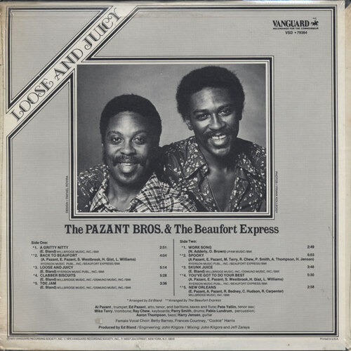 "The Pazant Bros. & The Beaufort Express : "" Loose And Juicy "" LP Vanguard Records VSD 79364 [ US ]"