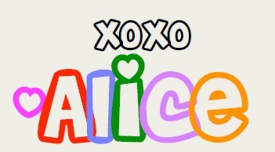 signature alice