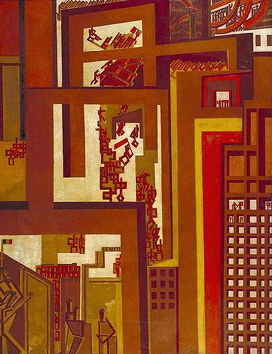 Wyndham Percy Lewis, La foule, 1914-1915