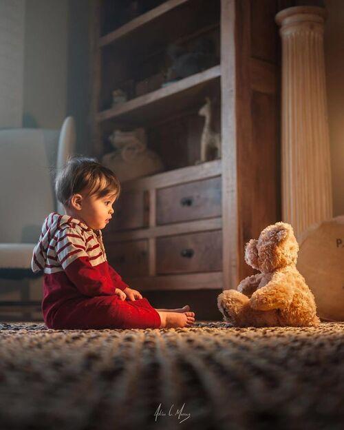 Les enfants et leur nounours