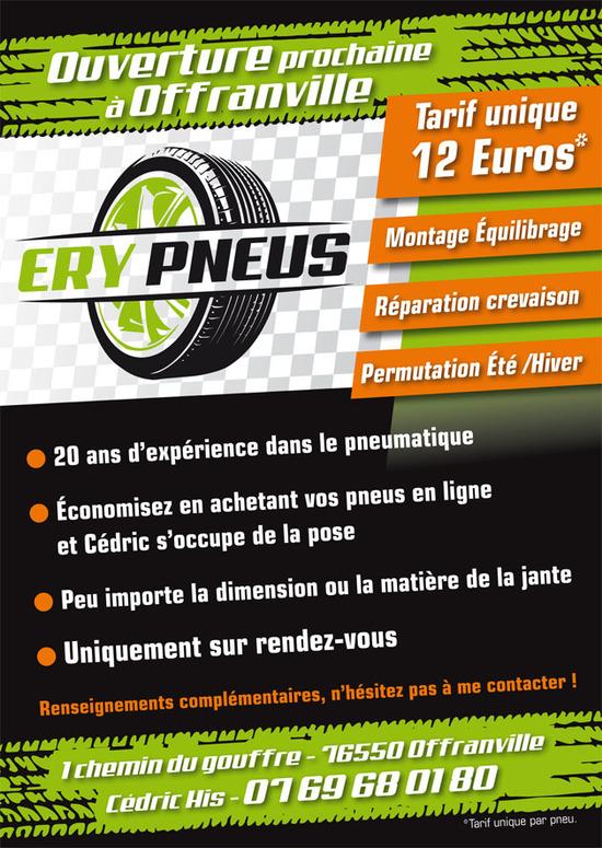 Logo et signalétique pour Ery Pneus