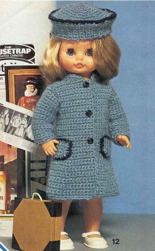Tuto d'un manteau pour poupée Crystal