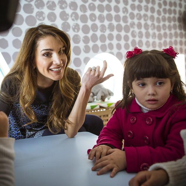 Rania et les enfants