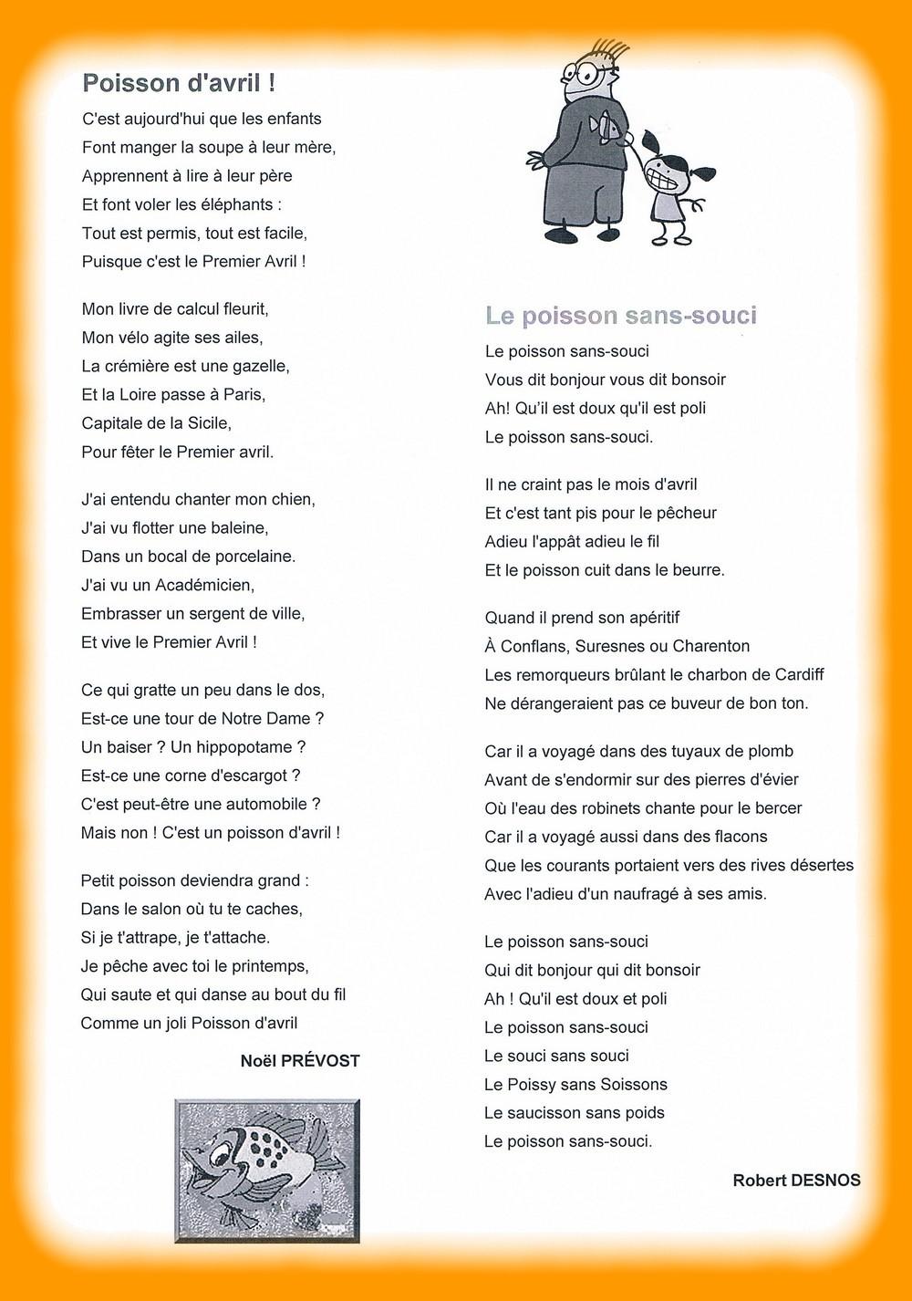 Poisson Davril En Poésie Blog Des Cm2 B De Lannée 2012 2013