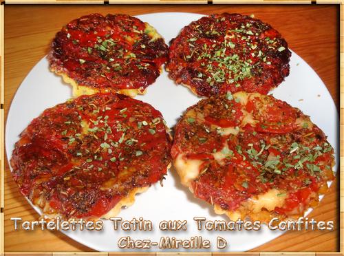Tartelettes Tatin aux Tomates Confites