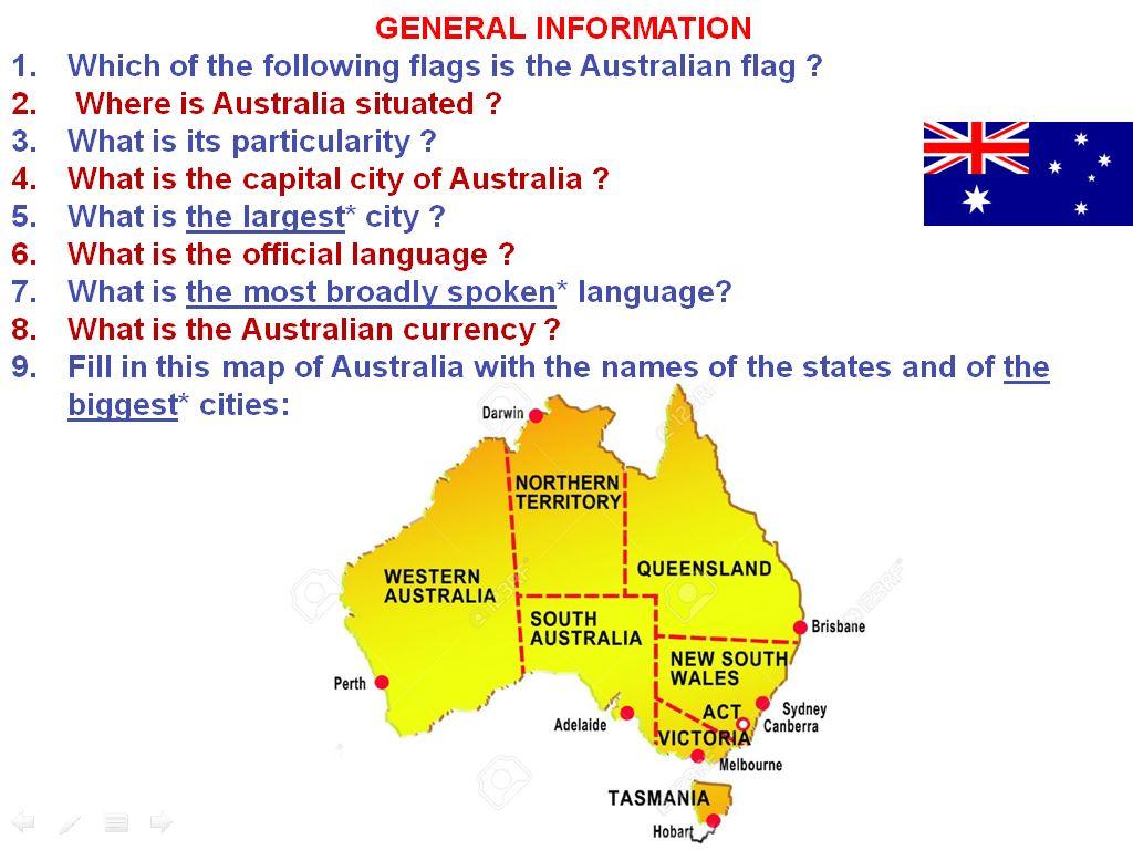 correction of the webquest about australia i like english