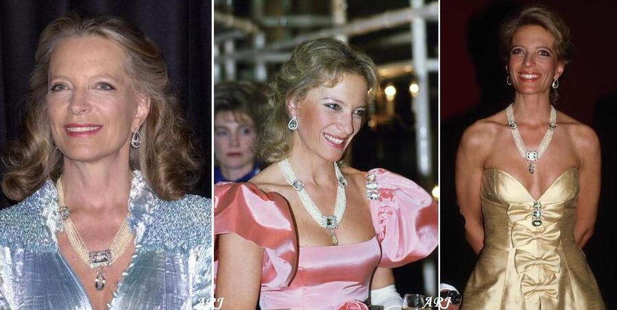 Le collier aigues marines de la Princesse Michael de Kent
