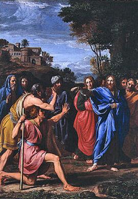 Le Christ soignant un aveugle, par Nicolas Colombel, 1682