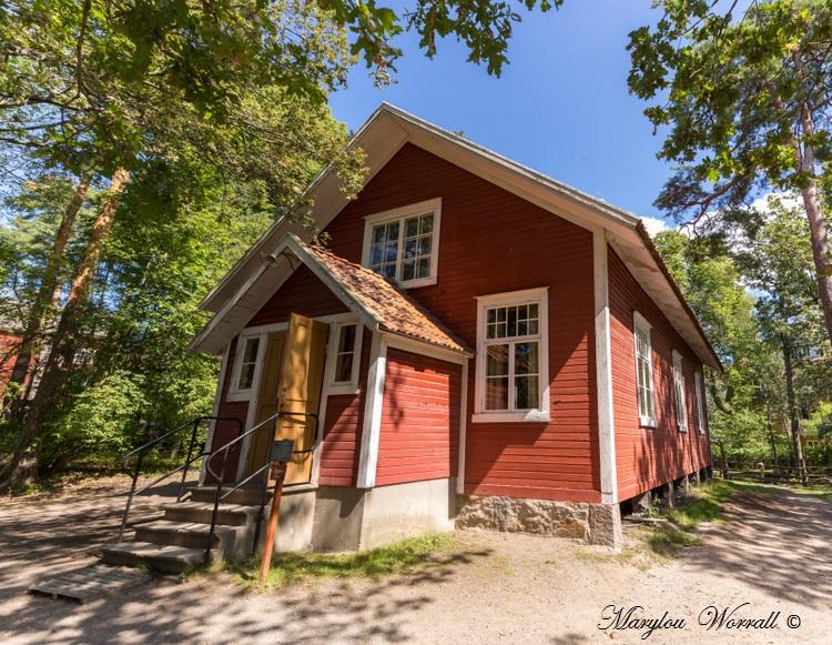 Suède : Écomusée Skansen Chambre d'un ouvrier et Mmaison Commune