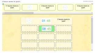 Lire l'heure - jeux en ligne - niveau 5