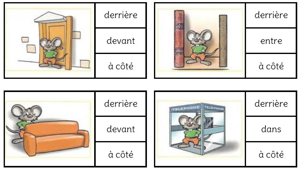 Coloriage Reperage Dans Lespace.Vocabulaire Du Reperage Spatial L Ecole De Crevette