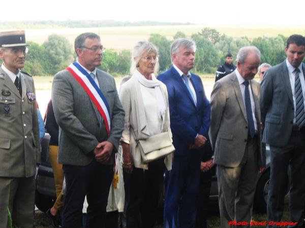 René Drappier a assisté aux cérémonies en hommage à la Libération de notre territoire : à Villotte, Maisey et Châtillon sur Seine