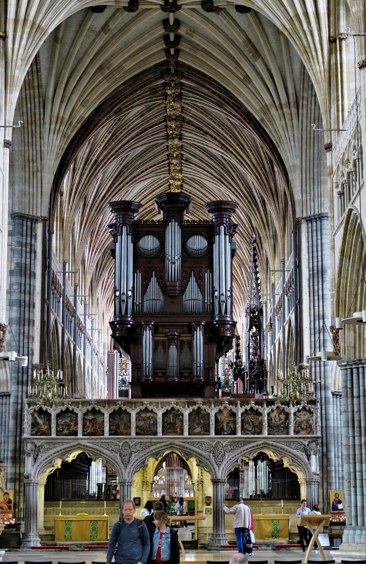 EXETER. Cathédrale : le Jubé et l'orgue