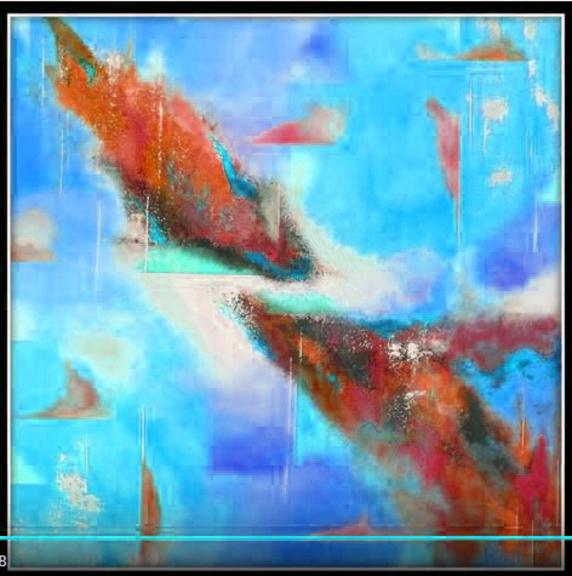 Dessin et peinture - vidéo 2121 : La peinture abstraite facile, en suivant son inspiration - peinture acrylique.