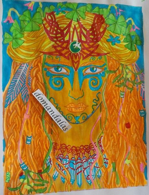 DOMANDALAS  coloriage  2 magical beauties par Cristina McAllister