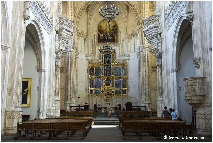 Toledo - Monasterio de San Juan de los Reyes - L'église et le choeur.