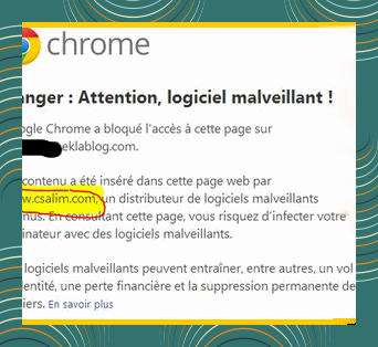alerte google chrome
