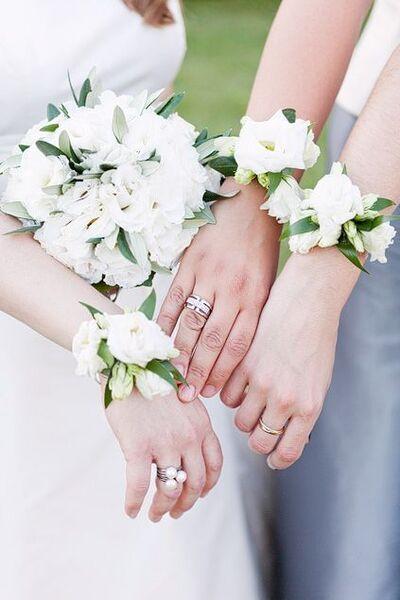 fleur poignet corsage de mariage