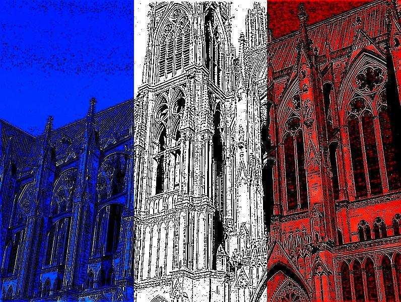 Metz / La cathédrale Saint-Etienne s'y dore au soleil...