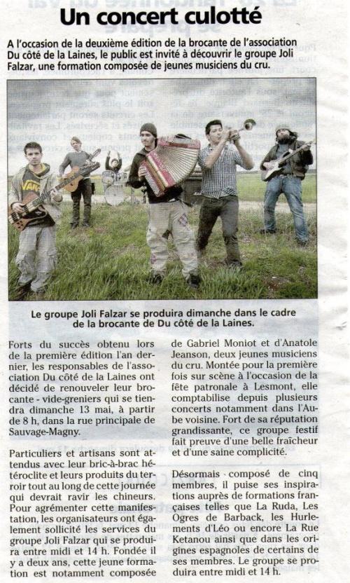 Article dans le Journal de la Haute Marne