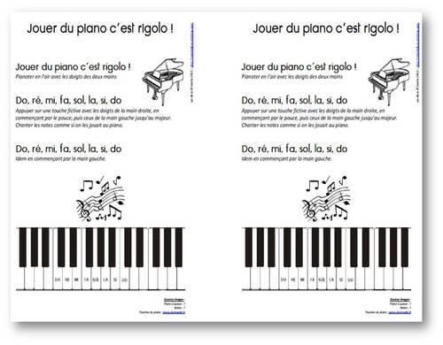 Jouer du piano c'est rigolo !
