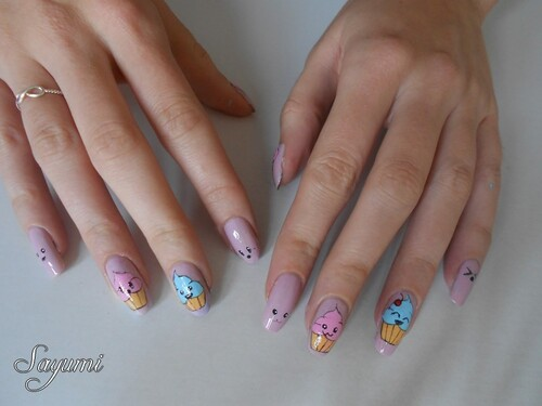 Nail Art Kawaii Cupcake