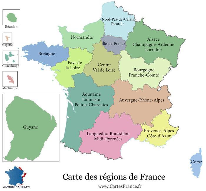 Les territoires ultramarins de France