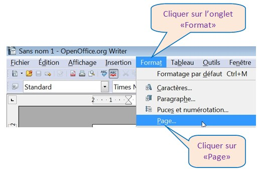 OPEN OFFICE WRITER 3.0.1 – IMPRIMER EN MODE PAYSAGE