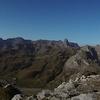 De la Pène de l'Ours (2135 m),  panorama sur la sierra de la Partacua et Anayet