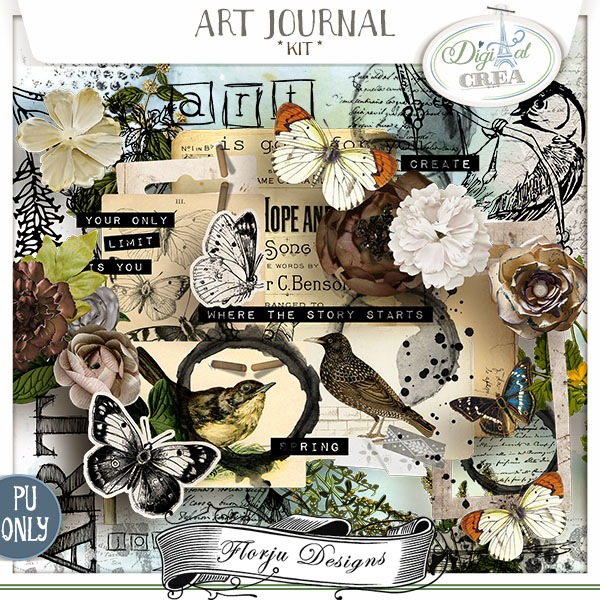 Art Journal { Kit PU } by Florju Designs