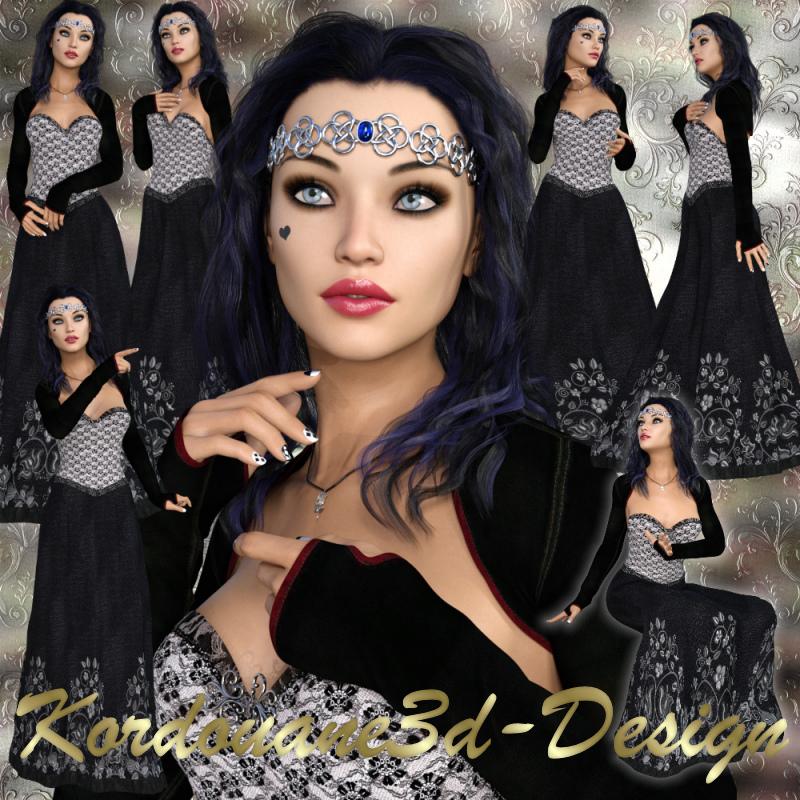 Aïnoha femme gothique (tube-image-poser)