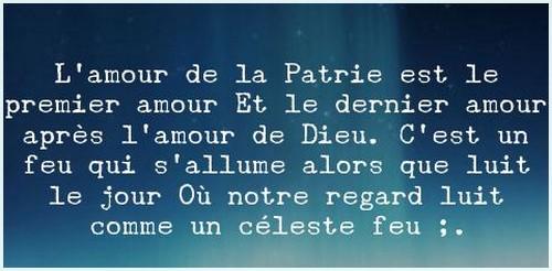 """"""" L'amour de la patrie """"  de Paul Verlaine"""