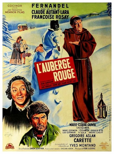 L'AUBERGE ROUGE - BOX OFFICE FERNANDEL 1951