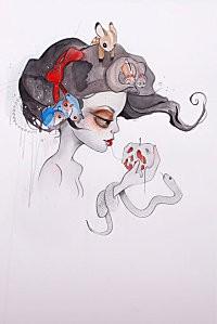 Branca-Graphite-watercolor on paper-2011
