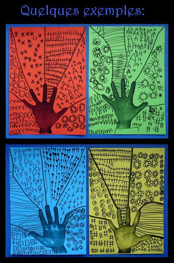 """Idée Pinterest : """"une main et des graphismes"""""""
