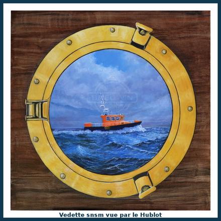 bateau de sauvetage par le hublot