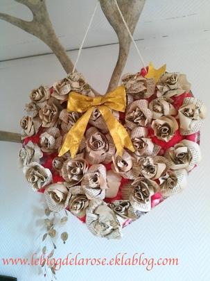 Un coeur pour Noël. Le tuto/ A heart for Christmas. DIY