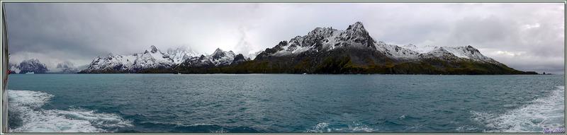 Les derniers Zodiac remontés sur le pont supérieur, nous reprenons la mer vers le Fjord Drygalski - Cooper Bay - Géorgie du Sud