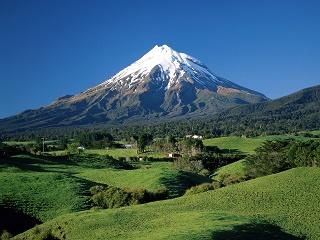Le mont Edmont, le Fuji de la Nouvelle Zelande ...