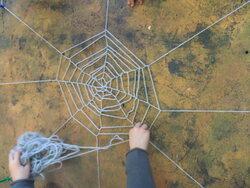 Création d'une toile d'araignée - étape 3