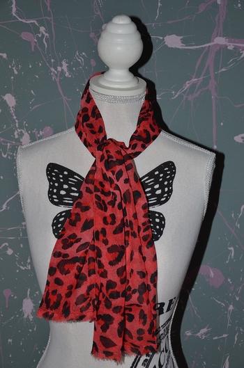 foulard voilage leopard 3