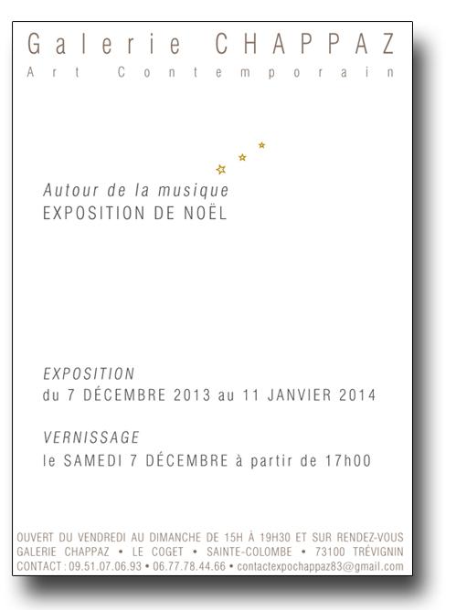 Exposition à la Galerie Chappaz