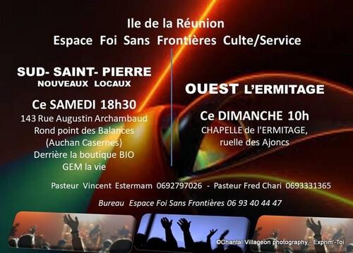 CELEBRATION DIMANCHE 10 H Ile de la Réunion  OUEST