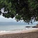 Sur la plage de Pont Café par temps de pluie ...(1) - Photo : Michaël