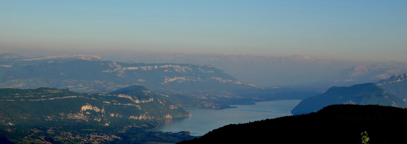 Soleil couchant sur le Mont Blanc