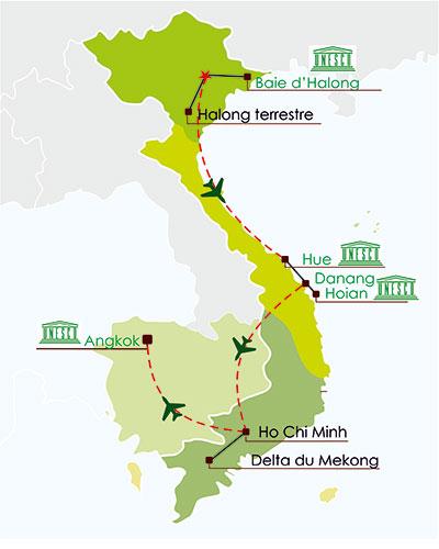 circuit combiné vietnam cambodge 18 jours